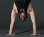 Handstand in lotus
